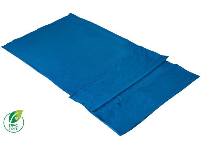 High Peak Licata Saco Interior Doble Algodón para Sacos de Dormir Cuadrados, azul